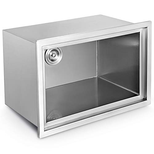 Moracle Inbouw-ijsbox met koeldeksel voor tank van roestvrij staal in de koelkast voor sap bierwijn