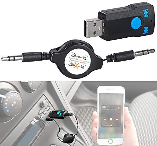 auvisio Adapter AUX, Bluetooth: Audio-Receiver mit MP3-Player & Freisprecher, Bluetooth 4.2, AUX-Out (USB Adapter, Bluetooth)
