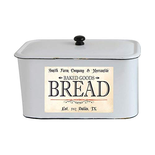 Personalized - Vintage Farmhouse Styled Bread Box Label - Waterproof Adhesive Vinyl Sticker
