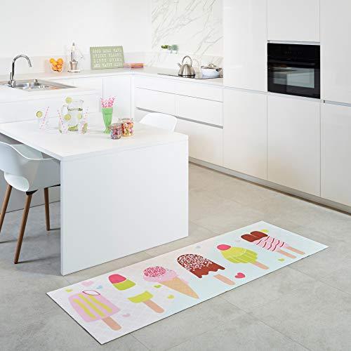 Carpet Studio Küchenläufer 65x180cm, Küchenteppich für Küche, Waschbar, Einfach zu Säubern, rutschfest - Iskrem
