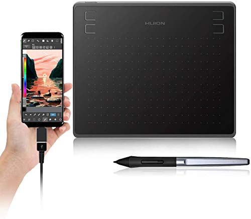 Huion HS64 Digital Graphics Tablets OSU! Drawing Tablet with 8192 Battery-Free Stylus and 4 Express Keys, Ideal Use for Distance Education and Wed Conference