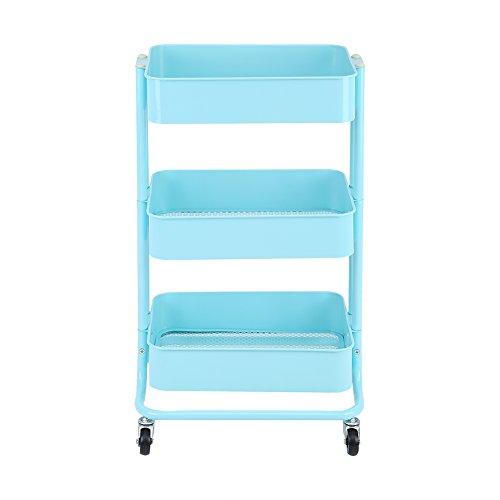 Mueble de cocina para almacenaje, 3plantas estanterías de almacenaje con rueda armario de cocina mueble de almacenaje con ruedas para cocina cuarto de baño garaje
