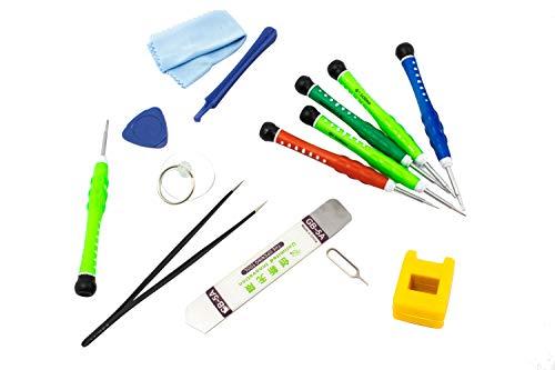 YIDA Kit 14 Piezas de reparación para Dispositivos móviles. Herramientas Destornillador para Reparar Movil iPhone,iPad, iPod Touch,Samsung,Xiaomi, Huawei, LG, Motorola.