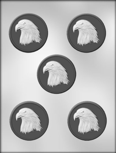 CK Products 2-1/2-Inch Eagle Medallion Chocolate Mold