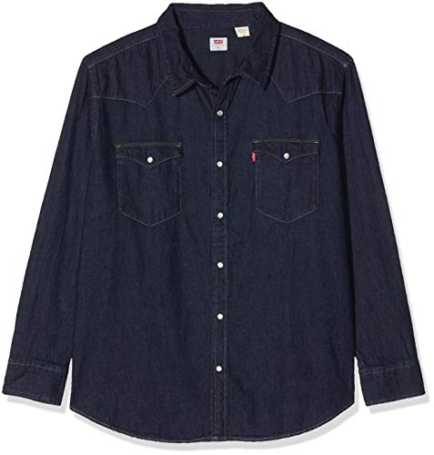 Levi's Herren Big Classic Western Hemd mit Button-Down-Kragen, Red Cast Rinse Takedown H2 19 0004, 1XL