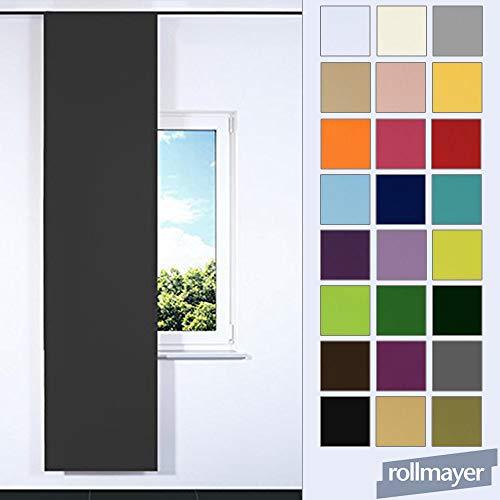 Rollmayer SCHIEBEVORHANG FLACHENVORHANG SCHIEBEPANEL SCHIEBEGARDINE Vorhang RAUMTEILER 60 x 200 cm Kollektion Vivid (Dunkel Grafit 61, IKEA System)