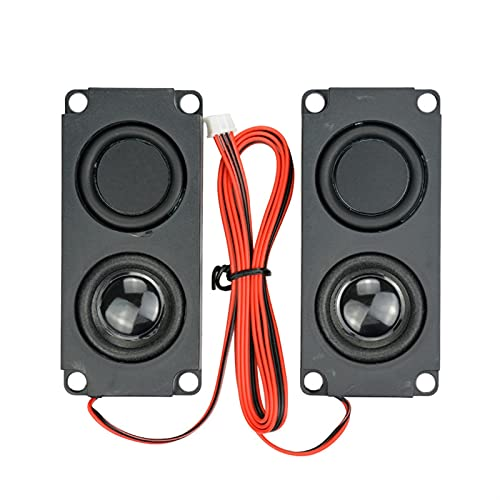 Wnuanjun 2 stücke Audio tragbare Lautsprecher 10045 LED-TV-Lautsprecher 8 Ohm 5W Double Membran Bass Computer Lautsprecher DIY für Heimkino