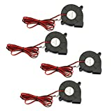 RuiLing 4-Pack 5015 DC 12V 0.18A Cooling Blower Fan 6000Rpm Industrial Cooling Turbo Fan for 3D Printer Accessories,Mini Black Plastic Cooling Fans 50x50x15mm