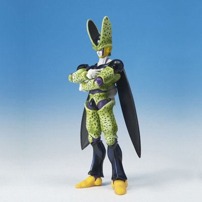 Dragonball Z BanDai Hybrid Action Mega Articulated 4 Inch Action Figure Perfect Cell image
