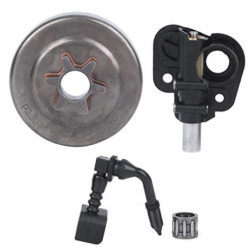 YIUS Kit de Bomba de Aceite de rodamiento de Tambor de Embrague, Ajuste de Repuesto para Partner 350351352370370371390420, Piezas de Motosierra