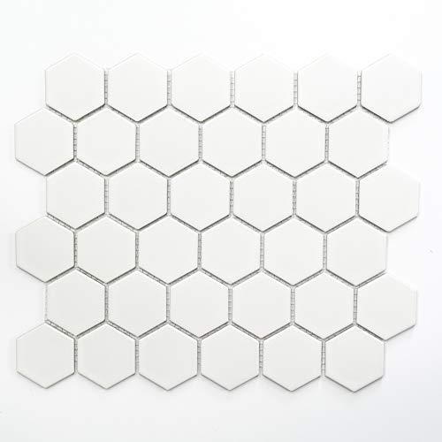 Piastrelle Mosaico Vetro Mosaico Mosaico Piastrelle Ceramica Hexagon cucina bagno nuovo 5mm # 353