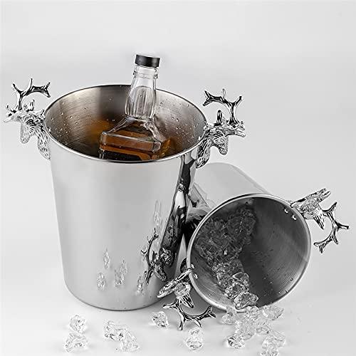 5L dikke roestvrijstalen ijsemmer, grote capaciteit geïsoleerde wijnemmer, champagne, bier, wijn en cocktail emmers met…