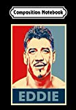 Composition Notebook: Vintage Eddie WWE Guerrero Crewneck s WWE Classic, Journal 6 x 9, 100 Page Blank Lined Paperback Journal/Notebook