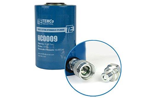TEMCo HC0009 - Hydraulic Cylinder Ram Single Acting 20 TON 2