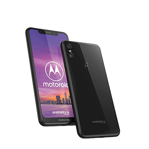 "Motorola One, Smartphone Android Display 5,9"" in 19:9, Dual Camera da 13Mp, 4/64 GB, Dual Sim, Cover protettiva inclusa, Colore Ceramic Black"