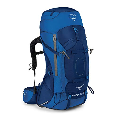 Osprey Herren Aether Ag 70 Backpacking Pack, Neptune Blue, Large