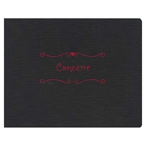 TAKENO 写真台紙 MUSIC台紙 2L×2L/黒 117-0075