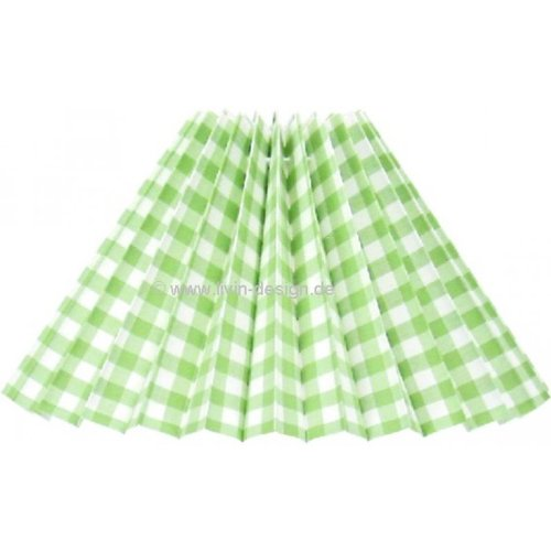 Abat-jour rond pliable Vichy vert clair E27 33-12-20