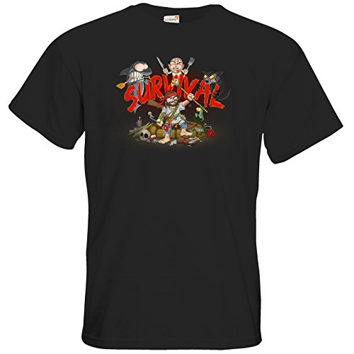 getshirts - Gronkh Official Merchandising - T-Shirt - Survival - Black XL