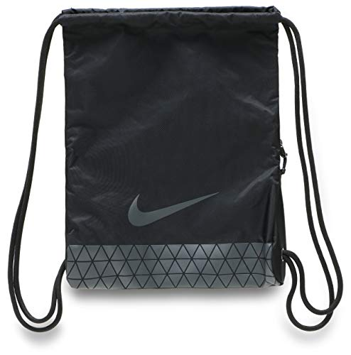 Nike Polyester 45.5 cms Black/Black/Black Drawstring Gym Bag (BA5544-010), small