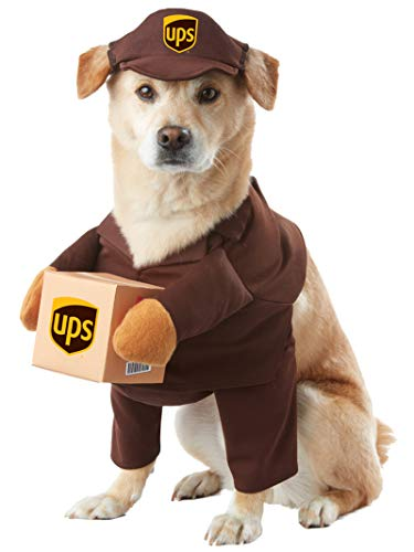 California Costume Collections Brown_UPS PAL Dog Costume, Medium