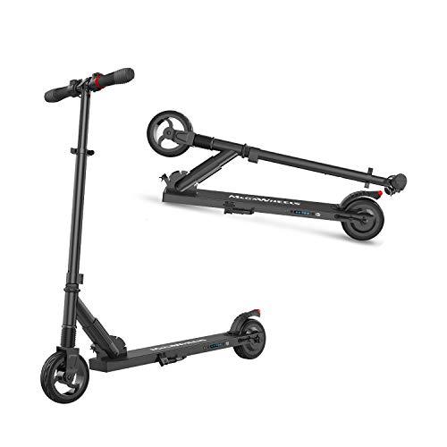 M MEGAWHEELS Monopattino Pieghevole Scooter Elettrico I-Bike da Città Pieghevole, velocità Massima 23km/h, Autonomia 15km per Adulti e Bambini (Nero)