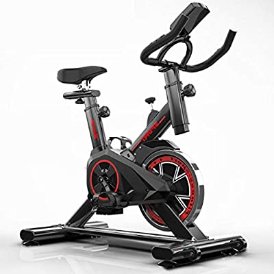 Exercise Bike Indoor Cycling Bike, Spin Bike with Adjustable Cushion Seat and Resistance, Fitness Stationary All-inclusive Flywheel Bicycle for Home Gym Workout Cardio Workout Machine Training