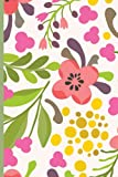 Notebook: summer florals theme, lined paper