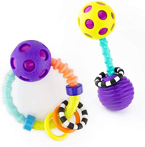Sassy My First Bend Flex Rattle Set 2 Piece for Ages 0 Months product image
