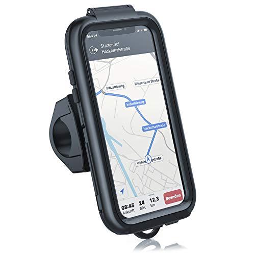 CSL - Custodia Rigida iPhone X e XS - Supporto da Bici iPhone X e XS - Aggancio a Manubrio con Diametro da 16 a 33mm - IPX5 - Funzione Touch supportata - Perfetto per la Bicicletta