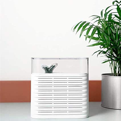 Best Prices! BBRR 2.4L Capacity Digital Air Dehumidifier Anion UV Low Energy Air Purify for Home Wardrobe Bathroom Kitchen Filter Coolers Drying Machine Air Conditioner Desiccant Fan Absorber,White