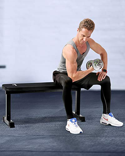 "MaxKare Flat Weight Bench Workout Exercise Bench with 42"" L x 11.8"" W x 2'' T Cushion for Home Gym Fitness Strength Training"