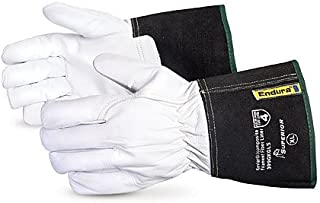 399GKGL5XX Endura Goat-Grain Driver Gloves with Kevlar/Composite Filament Fiber Lining and Gauntlet Cuff, Size Extra Extra Large