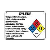 MNUT Letrero de Metal de Aluminio de 8 x 12 Pulgadas de Xileno irrita a los Ojos/Piel/tracto respiratorio de Lata de Metal