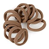 Cyndibands Gentle Hold Seamless Soft and Stretchy Elastic Fabric No-Metal Ponytail Holders - 12 Hair Ties (Light Ash Brown)