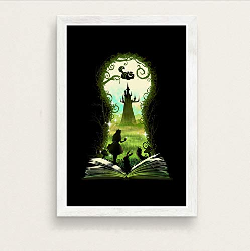 zpbzambm Frameless Wall Painting 40X50Cm - Fantastic Beasts Lord Of The Rings Alice In Wonderland Art Film Silk Painting Canvas Wall Poster Home Decor Zp-1774