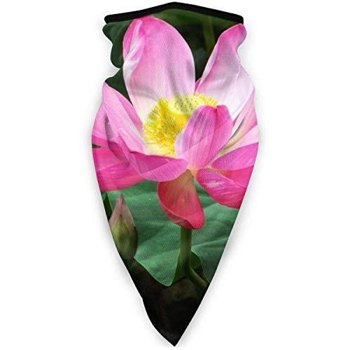 Yearinspace Hermosas flores de loto al aire libre máscara de la boca a prueba de viento deportes máscara máscara de esquí escudo bufanda bandaMen mujer