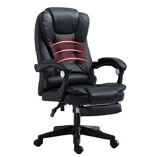 XKKD stoel Recline met 72 Cm hoge rug grote stoel en kantelfunctie PU lederen padding bureaustoel met verlengde beensteun en ligstoel lager gewicht 150kg