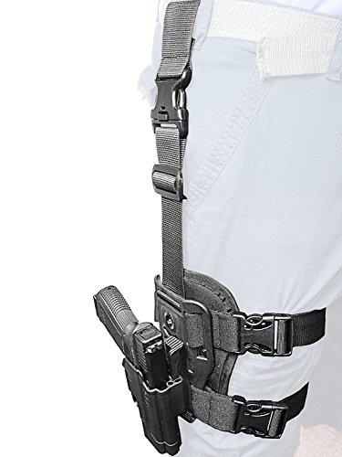 ORPAZ Defense Dropleg Thigh rig platform + Taktisch verstellbar Pistole Holster Active Retention Mit Thumb Release Sicherheit für Heckler & Koch H&K USP 45, H&K USP 9mm and H&K USP 45 (Full Size Only)