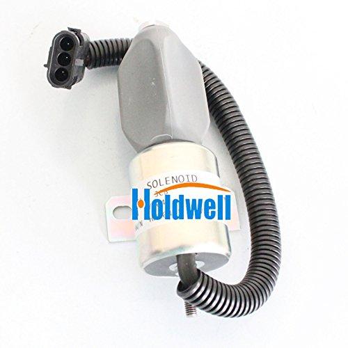 Holdwell Arrêt solénoïde 332/J5060 pour JCB Js180 Js240 Js260 Js160 Bouchon Moteur 24 V