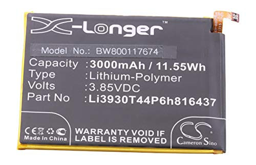 vhbw Litio polímero batería 3000mAh (3.85V) para móvil Smartphone teléfono Vodafone Smart...