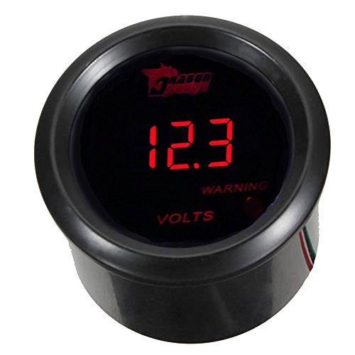 "Mintice™ Universal 2"" 52mm Auto KFZ Instrument Voltmeter Rot LED Licht Anzeige Digital Batteriespannung Messgerät"