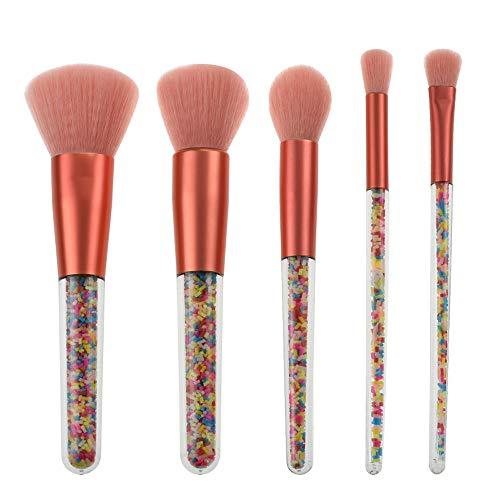 Bonbons Pinceau De Maquillage Ensemble 5pcs Pinceaux De Maquillage avec Manche Cristal Transparent pour Fond De Teint Fard À Paupières Brosse à maquillage XXYHYQ
