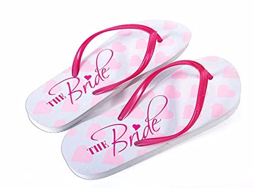Forum Novelties Bride Flip-Flops, Pink