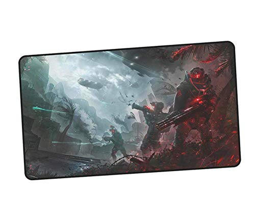 RNGZC Gaming Mauspads,Warface Mousepad Gamer Gaming Große Ästhetik Notebook PC Zubehör Laptop Padmouse Ergonomische Matte H (400Cmx900Cm)
