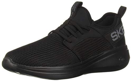 Skechers Men's GO Run FAST-55103 Sneaker, Black, 11 M US