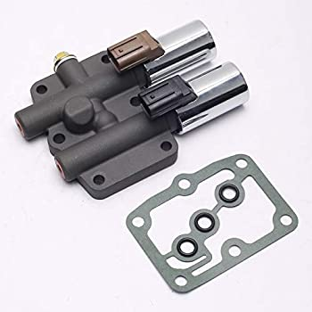 SEEU AGAIN Transmission Dual Linear Solenoid with 1PCS Gasket and 3PCS O-Rings Replacement for Accord Odyssey Pilot Prelude/CL TL MDX - Replaces Part# 28250-P6H-024 28250P6H024