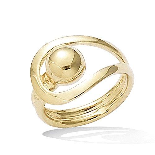 Line.bijoux ring gesp + bol verguld 750/000 T 54 10 jaar garantie