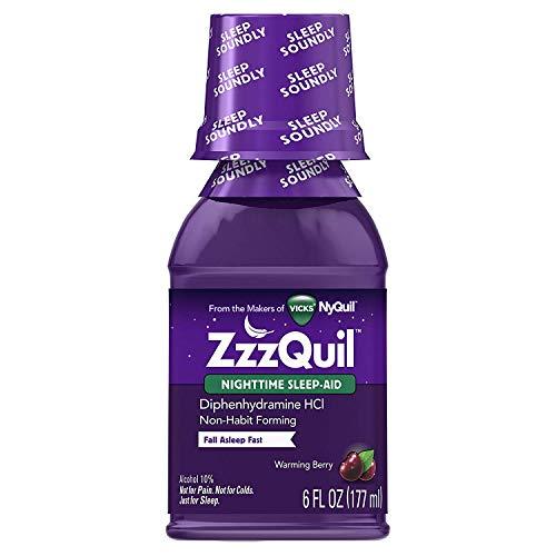 ZzzQuil Nighttime Sleep Aid - Liquid - 6 oz, Pack...
