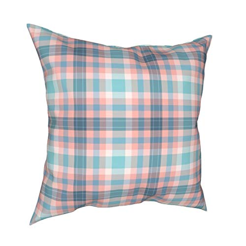 Uliykon Fnb Fizz N' Bubble - Fundas de cojín decorativas a cuadros de tartán suaves y cuadradas, fundas de almohada para sofá, dormitorio, coche, con cremallera invisible, 45,7 x 45,7 cm
